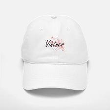 Vintner Artistic Job Design with Hearts Baseball Baseball Cap