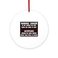 Warning Danger Achtung, Cold War Berlin Ornament (