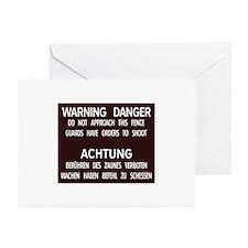 Warning Danger Achtung, Cold War Berlin Greeting C