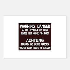 Warning Danger Achtung, Cold War Berlin Postcards