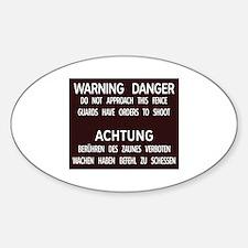 Warning Danger Achtung, Cold War Berlin Decal