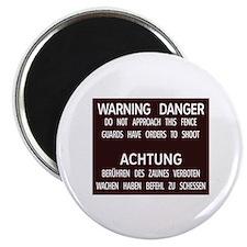 Warning Danger Achtung, Cold War Berlin Magnet