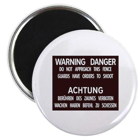 """Warning Danger Achtung, Cold War Berlin 2.25"""" Magn"""