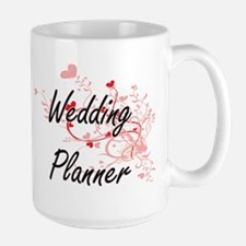 Wedding Planner Artistic Job Design with Hear Mugs