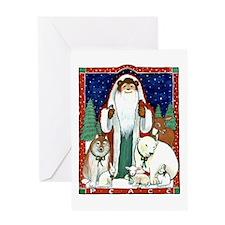 Peace Bear Greeting Card
