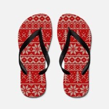 Christmas Traditional Sweater Flip Flops