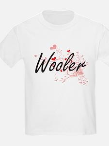 Wooler Artistic Job Design with Hearts T-Shirt