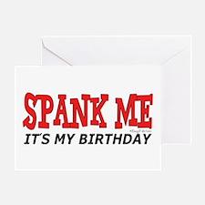 Spank Me Greeting Card