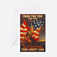 US War Bonds Top Third Liberty Loan Greeting Card