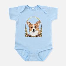 Pembroke Welsh Corgi Holiday Infant Bodysuit