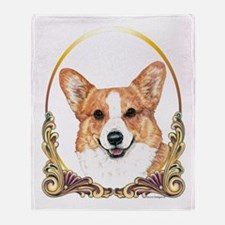 Pembroke Welsh Corgi Holiday Throw Blanket