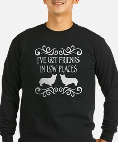 Friends in Low Places White Long Sleeve T-Shirt