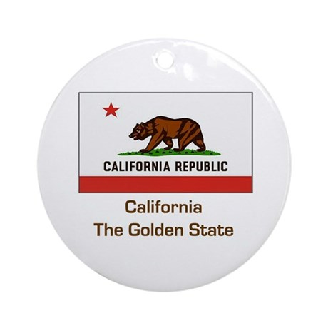 California State Flag Ornament (Round)