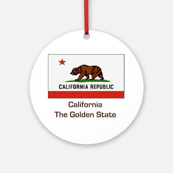 California State Flag Ornament (Round)