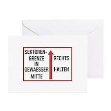Sektorengrenze, Cold War Berlin Greeting Cards (P