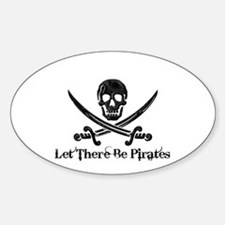 Let There Be Pirates Oval Decal