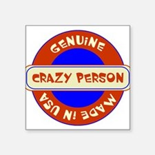 "Unique Crazy Square Sticker 3"" x 3"""