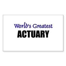 Worlds Greatest ACTUARY Rectangle Decal