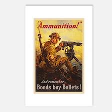 US War Bonds Ammunition W Postcards (Package of 8)