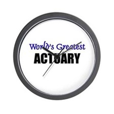 Worlds Greatest ACTUARY Wall Clock