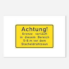 Achtung! Grenze verläuft, Cold War Berlin Postca