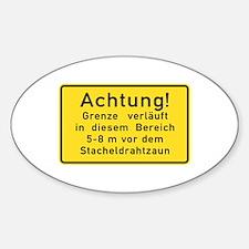 Achtung! Grenze verläuft, Cold War Berlin Sticke