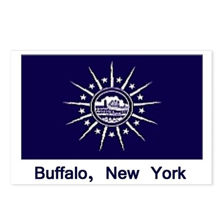 Buffalo NY Flag Postcards (Package of 8)