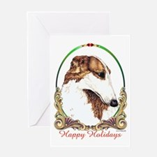 Borzoi Happy Holidays Greeting Card