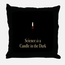 Funny Atheist science Throw Pillow