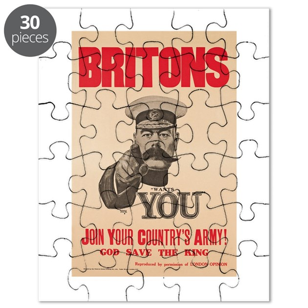 Britons Lord Kitchener Wants You WWI Propag Puzzle By
