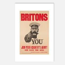 Britons Lord Kitchener Wa Postcards (Package of 8)