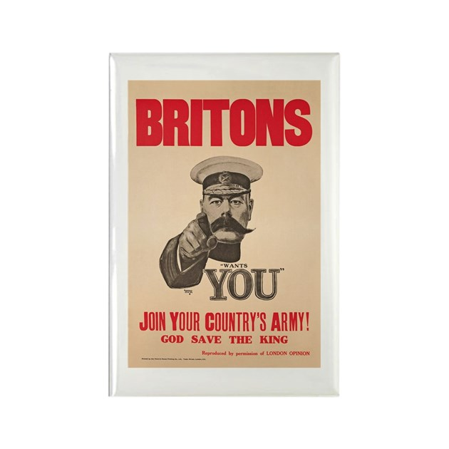 Britons Lord Kitchener Wants You Rectangle Magnet By