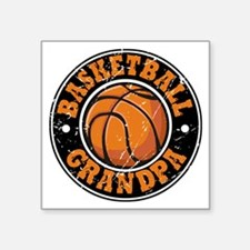 "Cute Basketball hoops Square Sticker 3"" x 3"""