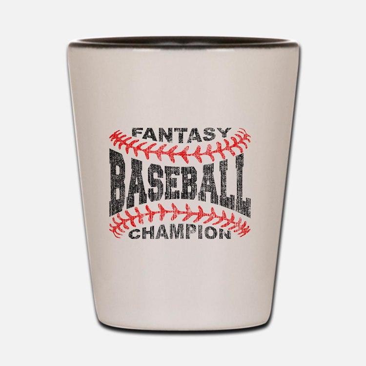 Cute Fantasy baseball Shot Glass