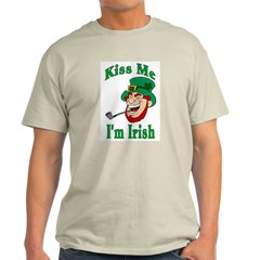 Kiss Me I'm Irish Ash Grey T-Shirt