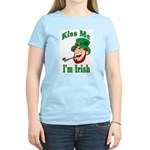 Kiss Me I'm Irish Women's Pink T-Shirt