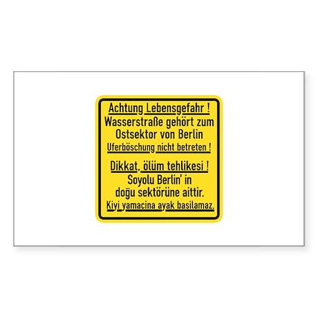 Achtung Lebensgefahr!, Cold War Berlin Sticker (R