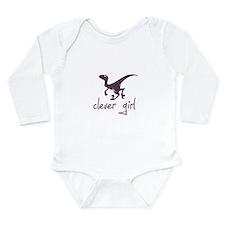 Cool Velociraptor Long Sleeve Infant Bodysuit