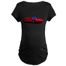 Red Ferrari - Exotic Car Maternity T-Shirt