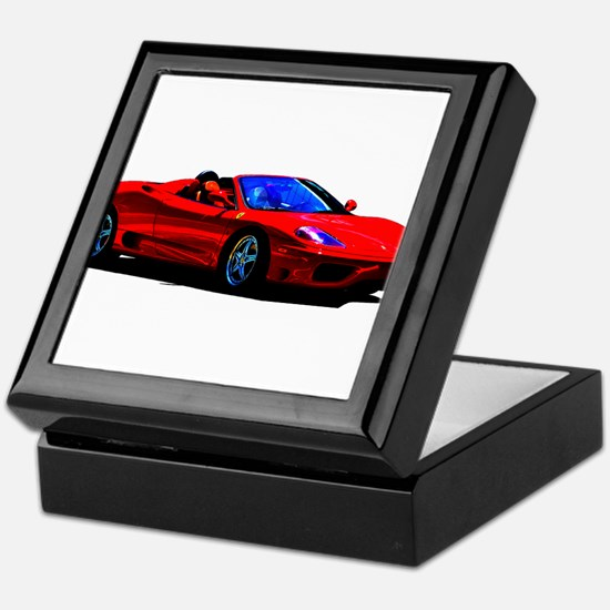 Red Ferrari - Exotic Car Keepsake Box