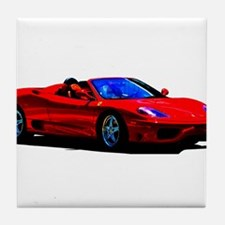 Red Ferrari - Exotic Car Tile Coaster