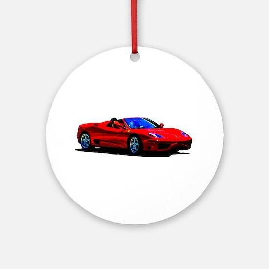 Red Ferrari - Exotic Car Round Ornament