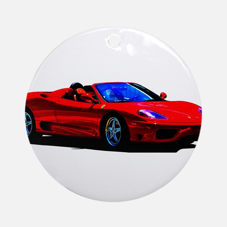 Red Ferrari - Exotic Car Round Ornament