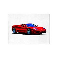 Red Ferrari - Exotic Car 5'x7'Area Rug