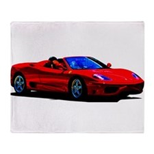 Red Ferrari - Exotic Car Throw Blanket