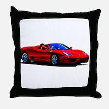 Red Ferrari - Exotic Car Throw Pillow
