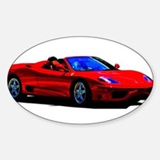 Red Ferrari - Exotic Car Decal