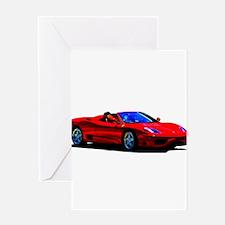 Red Ferrari - Exotic Car Greeting Cards