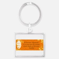Cute Buddha quote Landscape Keychain