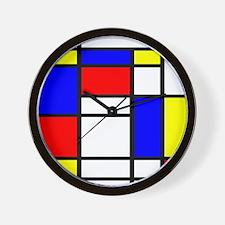 Mondrian-5a Wall Clock